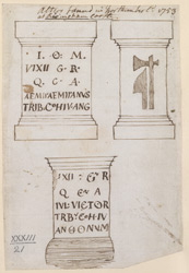 Altars found at Northumberland, 1753, at Risingham Castle